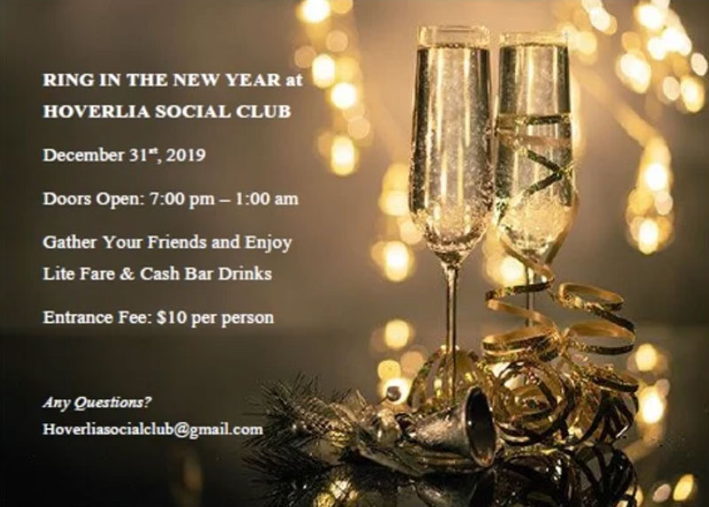 Ring in The New Year at HOVERLIA Social Club