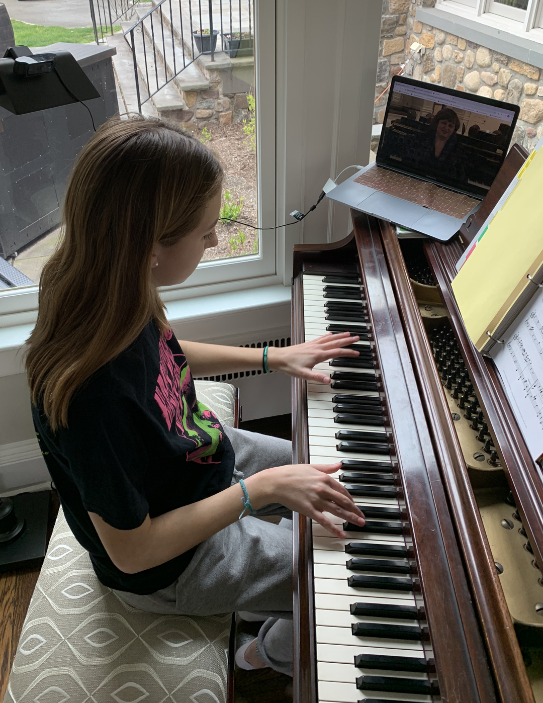 Remote piano lessons