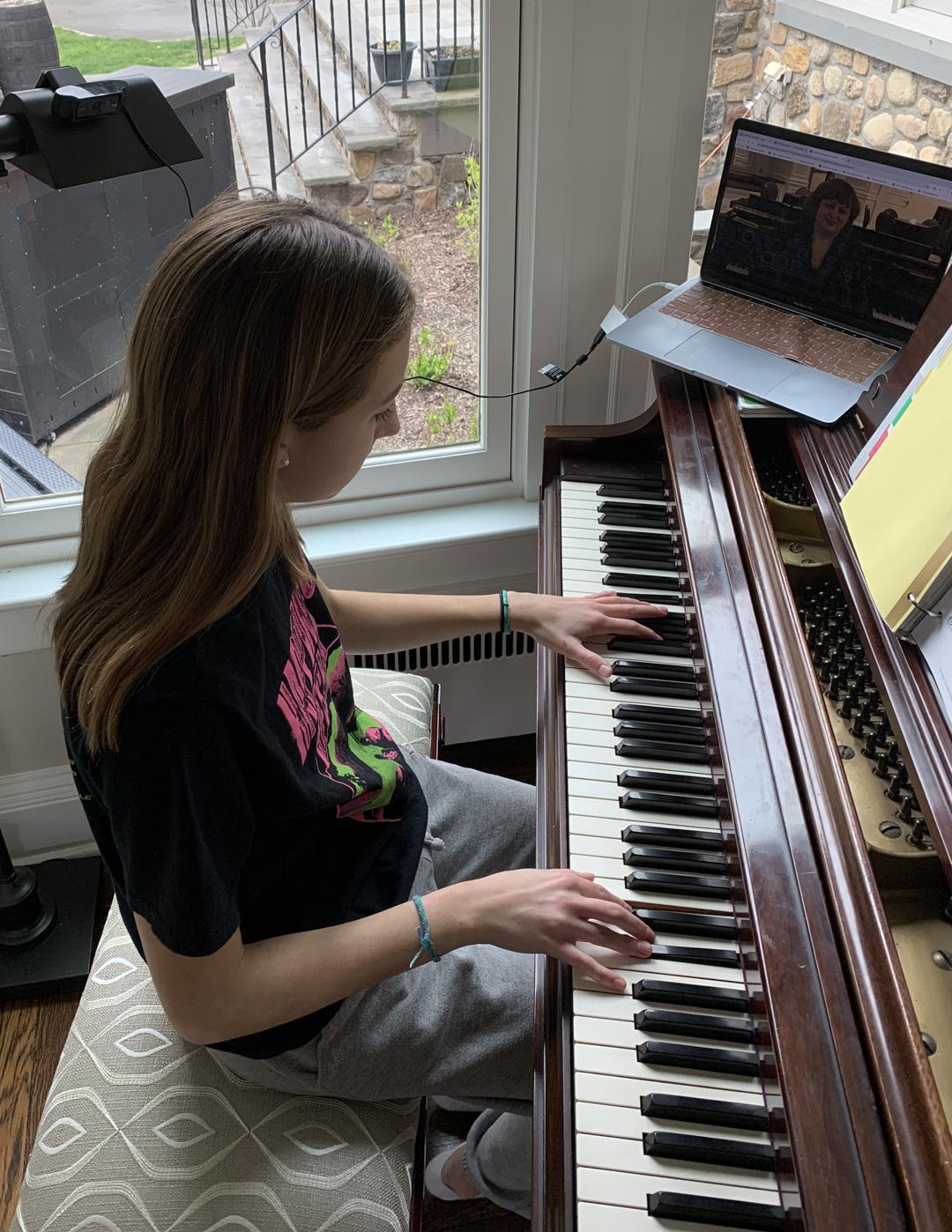 Remote piano lessons